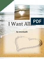 I Want Allah