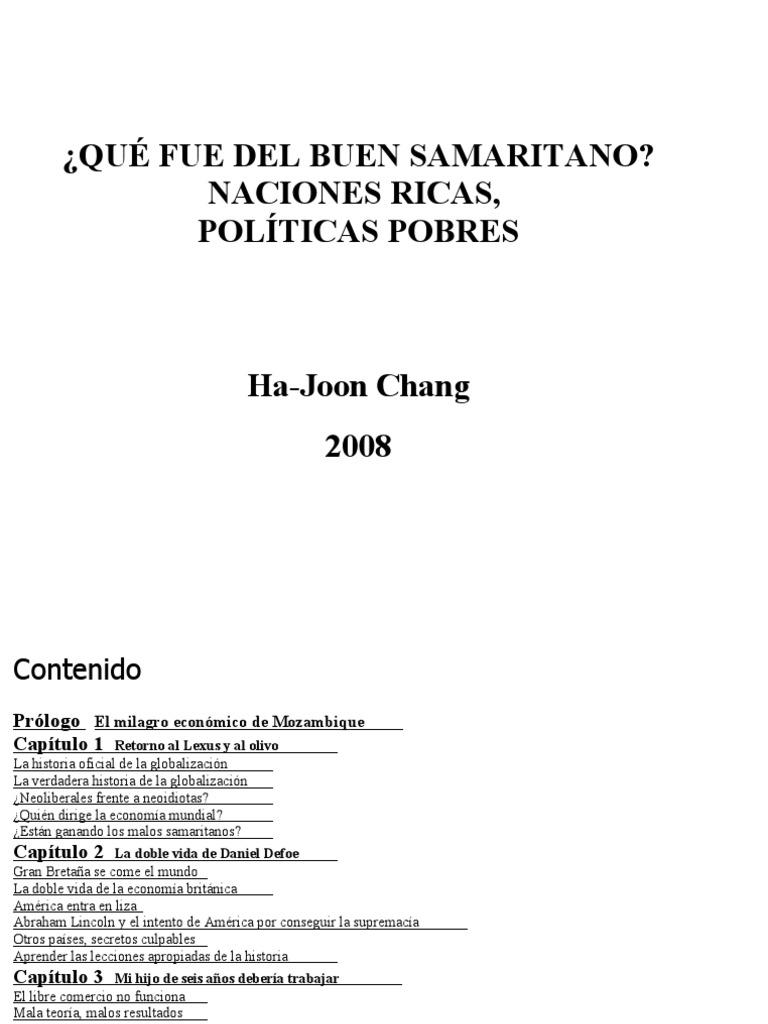 fcdb771baf78 Chang Ha Joon - Que Fue Del Buen Samaritano