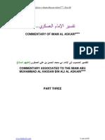 Tafseer Al Askari Asws Part III