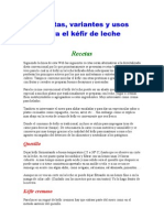 Recetas de Kefir