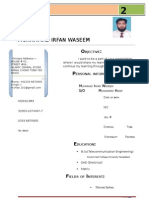 New CV Irfan