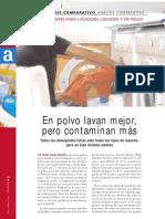 Comparativo Eroski Detergentes para lavadora líquidos y en polvo