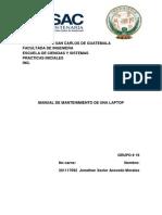 Manual de Mantenimiento Preventivo y Correctivo de Una Laptop