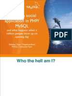 High Performance Social Networking Applications PHP MySQL
