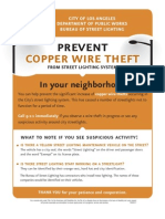 Copper Theft  Flyer