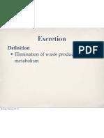 excretion 1