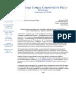 Saratoga Conservative Party Press Release 2 2013