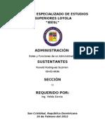 Roles y Funciones de Un Administrador