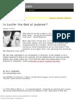 Is Lucifer the God of Judaism - Henrymakow.com