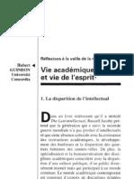 Guidon Vie académique et Vie de l'esprit 1993