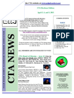 CTA Newsletter With Election Information for Feb 2013 - Revised