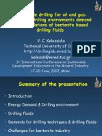 challenges for bentonite industry-drilling fluids