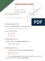 Ecuaciones de La Recta y El Plano en El Espacio