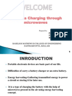 Wireless Charging Through Microwaves
