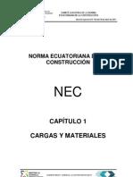 Nec13 Cap.1 Cargas y Materiales