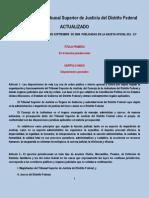 Ley Orgánica del Tribunal Superior de Justicia del D. F ( ACTUALIZADA )