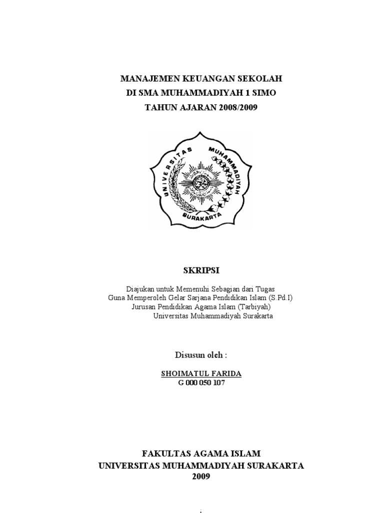 Skripsi Manajemen Keuangan Sekolah
