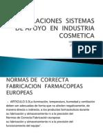 Instalaciones Sistemas de Apoyo en Industria Cosmetica