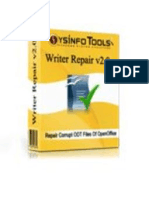 OpenOffice Writer Repair Software