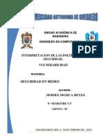 Políticas de Seguridad y vulnerabilidad de la Informaciòn
