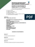 Recomendaciones Ing Mantenimiento 2009-II