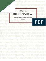 4.Dac and Informatica