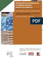 Prevención de accidentes en la manipulación de productos químicos