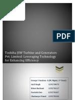 Toshiba JSW Turbine and Generators Pvt Limited