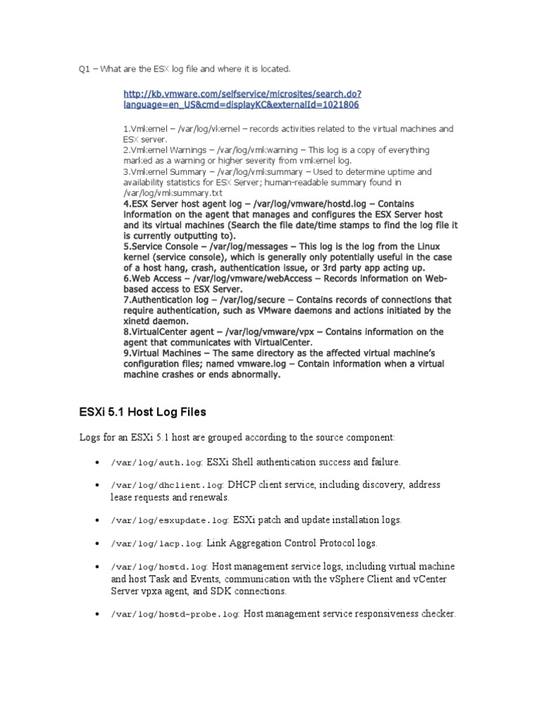VMware Log Path Details | Computer Data (20 views)