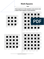 WorksheetWorks Math Squares 1