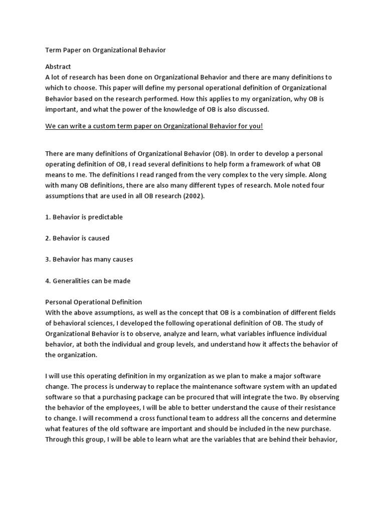English Essays Samples Essay Topics Organizational Behavior How To Write Science Essay also College Vs High School Essay Essay Topics Organizational Behavior  Organizational Behavior  Essay On My School In English