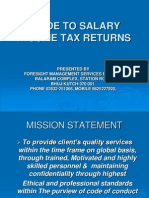 Guide to Salary Income Tax Returns