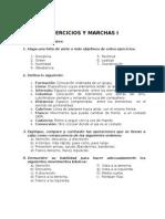 Especialidad Ejercicios y Marchas I