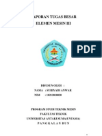 Laporan Elemen Mesin III Suriyadi Anwar
