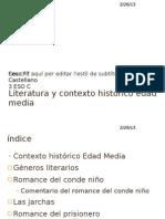 Literatura y Contexto Historico Edad Media