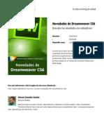 Novedades de Dreamweaver Cs6