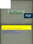 Valuation of a Brand