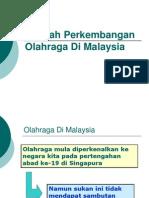 Sejarah Perkembangan Olahraga Di Malaysia