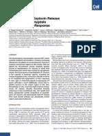 Evoked Axonal Oxytocin Release in the Central Amygdala Attenuates Fear Response