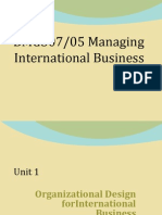 UnOrganizational Design for International Business