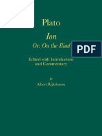 Albert Rijksbaron Plato Ion - Or on the Iliad. Edited With Introduction and Commentary Amsterdam Studies in Classical Philology - Vol. 14 2007