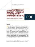 Implementation of Custom Precision Floating Point Arithmetic on FPGAs