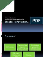 Efecto hipotensor