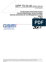 3GPP - TS 03.48 - Secuity Mechanisms for the SIM Application Toolkit