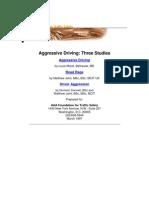 Aggressive Driving_Three Studies