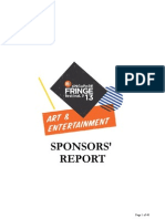 M1SFF13 Sponsors Report