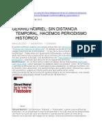 Gerard Noiriel Sin Distancia Temporal Hacemos Periodismo Historico