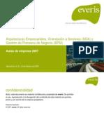 Arquitecturas Empresariales. Orientación a Servicios (SOA) y Gestión de Procesos de Negocio (BPM)