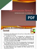 Continuación Tema 3 - INTRODUCCION  AL DERECHO