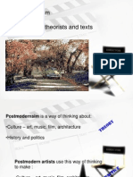 Postmodernism Theories, Theorists and Texts.ppt